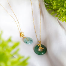 Bamboo Jade Donut Necklace