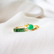 Scroll Jade 18k Gold Ring