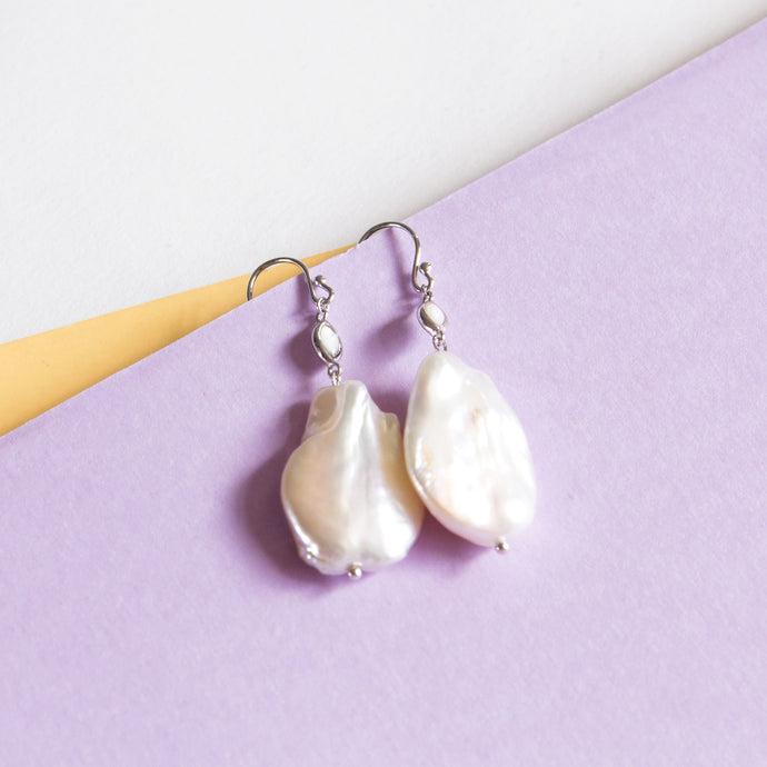 Baroque Pearl with Mother of Pearl Earrings