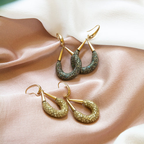 Loop Beaded Hook Earrings