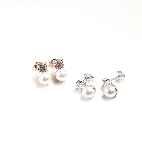 Bling Pearl Studs