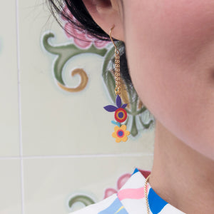 versatile irregular flower earrings