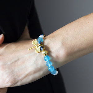 Stretch Bracelet with Dragonfly