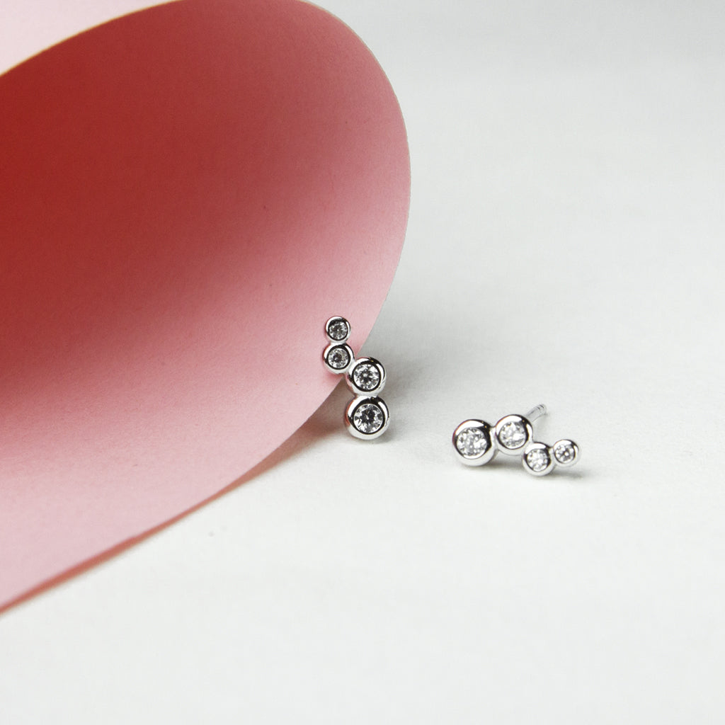 Bubbly Crystal Studs