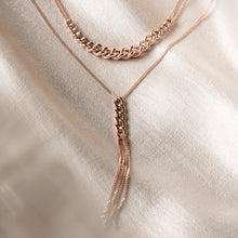 chain necklace rose gold