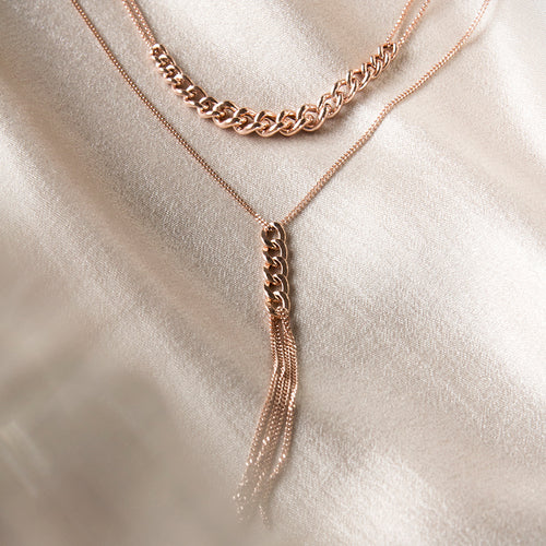 chain necklace rose gold plated