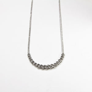 925 sterling silver chain necklace rhodium