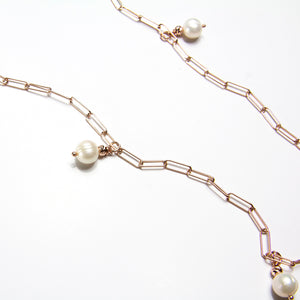 Freshwater Pearl Long Link Necklace