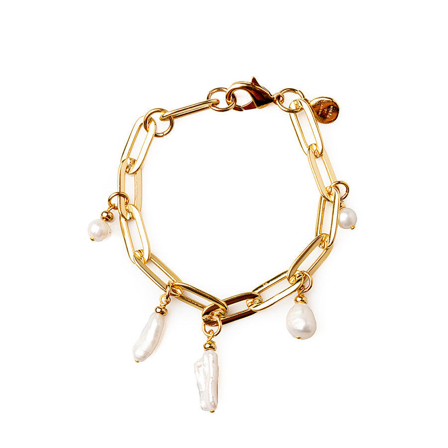 Velatti Links Gemstone Charm Bracelet