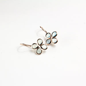 Gemstone Clover Earrings