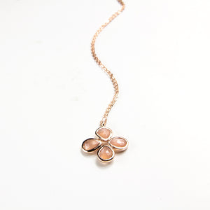 Gemstone Clover Necklace