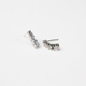 encrusted earrings 925 sterling silver