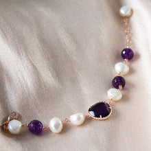 Amethyst, Pearl and Cubic Zirconia Bracelet