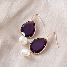 Cubic Zirconia and Pearl Drop Earrings