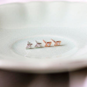 Baby Diamond Shape Studs