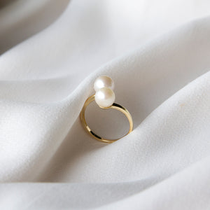 Seeing Double Pearl Ring