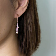 Double Strand Crystal Earrings
