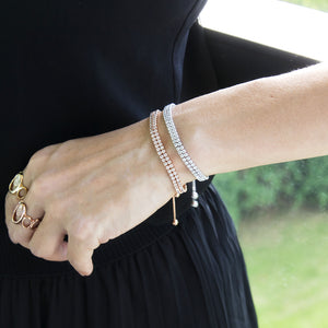 embrace jewellery double strand tennis bracelets