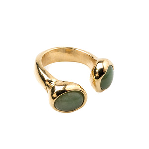 Velatti Double Gemstone Ring