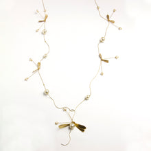 Long Dragonfly Pearl Necklace