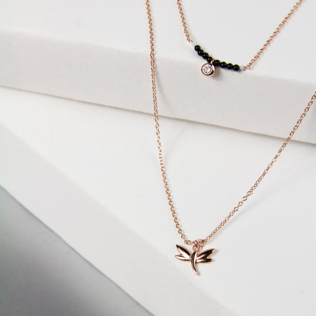 Double Layer Dragonfly Necklace