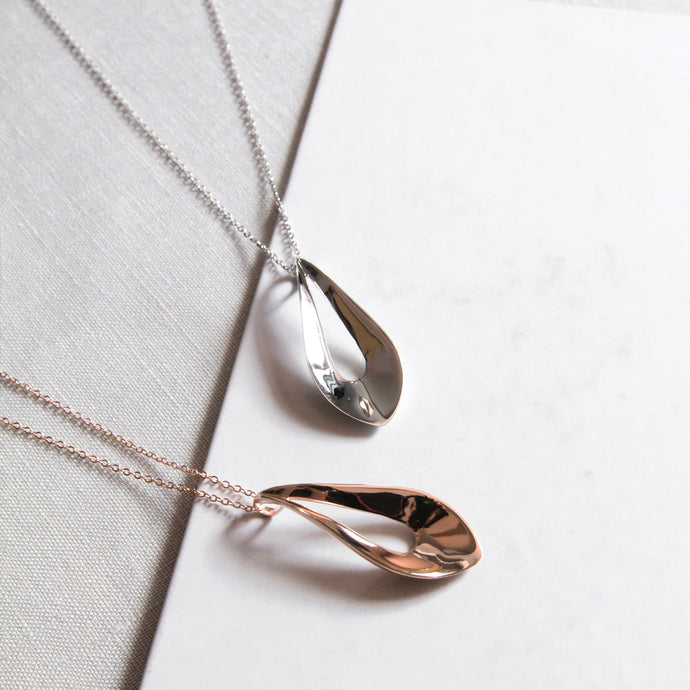 Elliptic Pendant Necklace