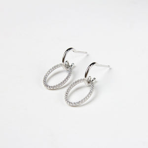 women's earrings crystal hoop