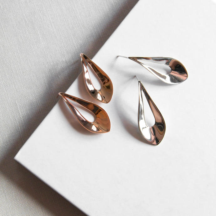 Elliptic Stud Earrings