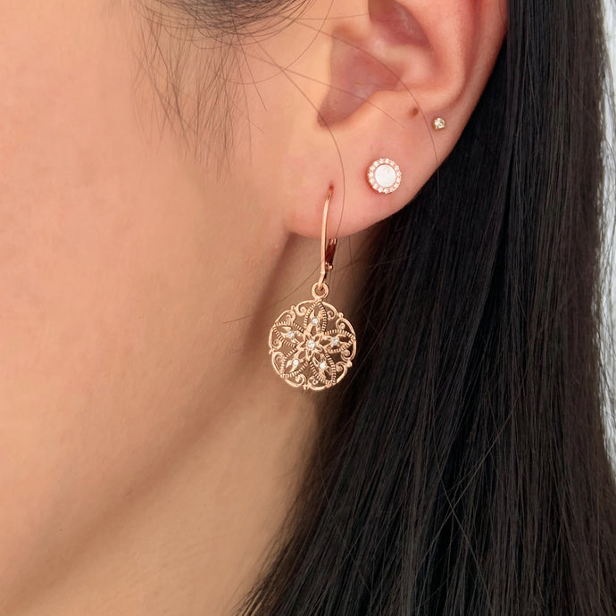 Filigree Rhinstone Earrings