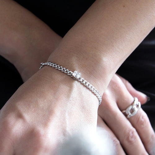 women's chain bracelet 925 sterling silver