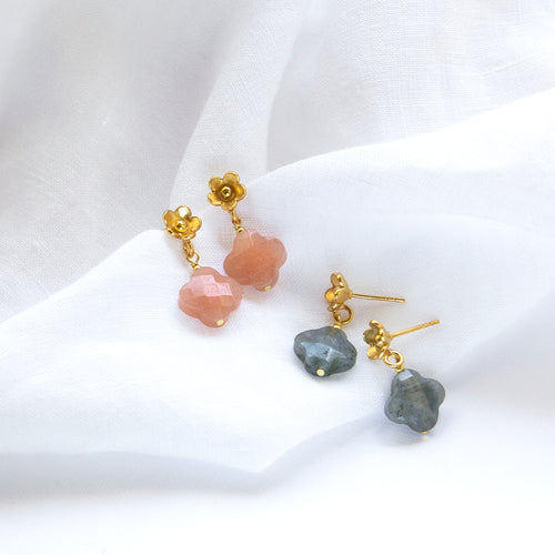 Floral Gemstone Earrings