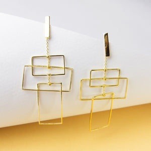 Fluid Stack Earrings