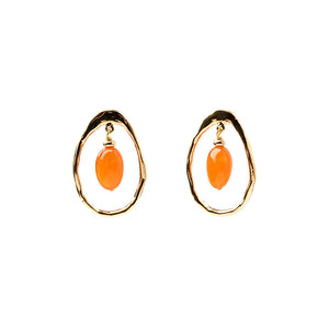 Velatti Gemstone Hoop Earrings