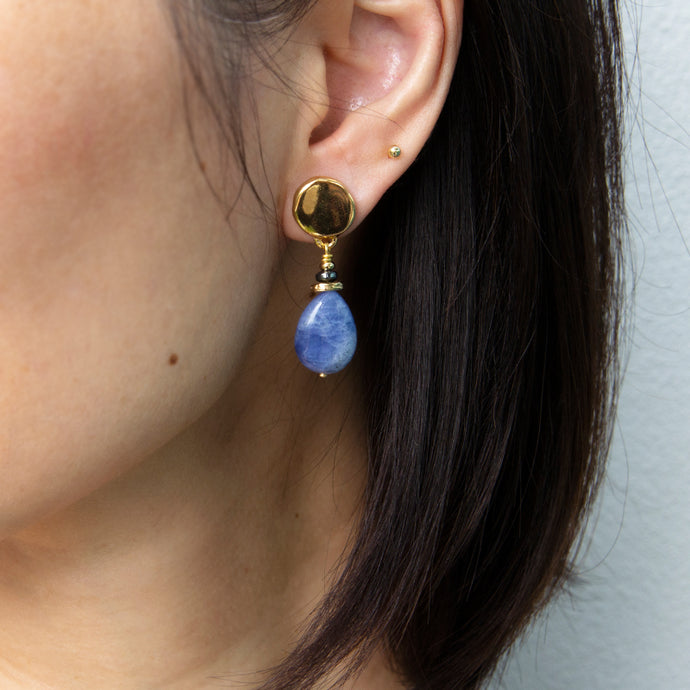 Velatti Single Gemstone Drop Earrings (Pre-Order)