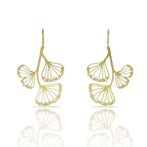RAS Gingko Biloba 3 leaf Earrings