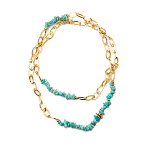 Velatti Gold Links Necklace