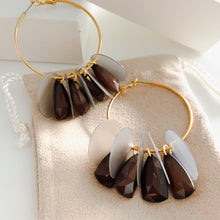Alternating Crystal Hoops Earring