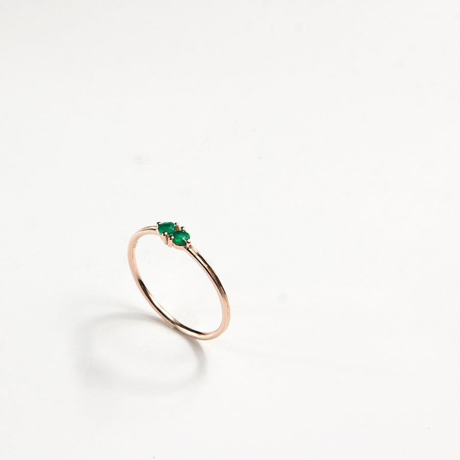 Green Onyx Dua Ring