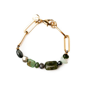 Velatti Stacked Gemstone Links Bracelet