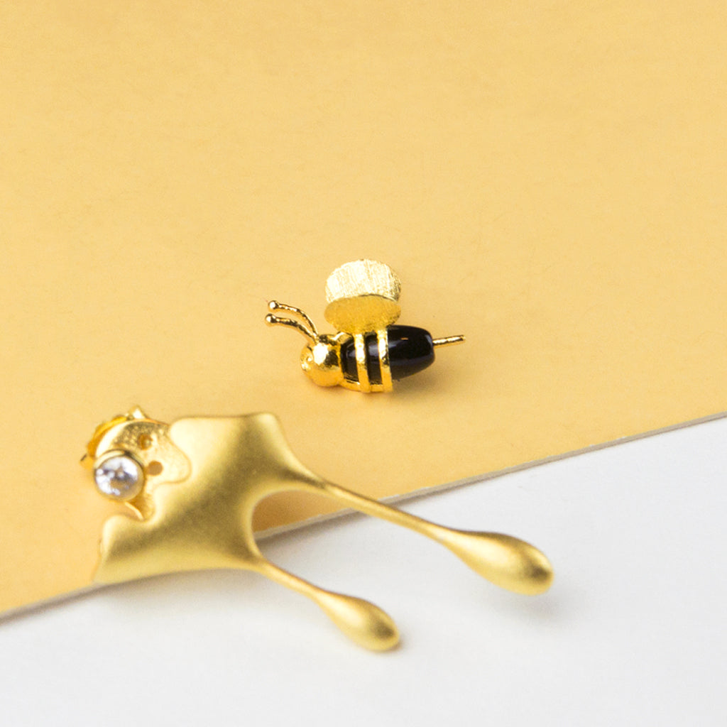 Bee and Honey Mismatched Earrings