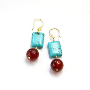 Howlite & Carnelian Earrings