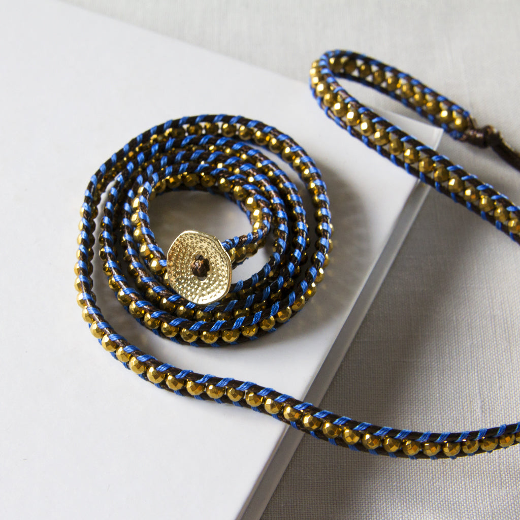 It's a Wrap Bracelet - Navy