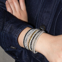 metallic bead layered bracelet