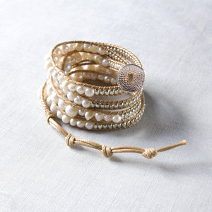 It's a Wrap Bracelet - Pearl