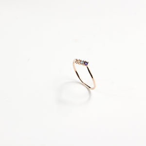 White & Blue Topaz Juliette Ring