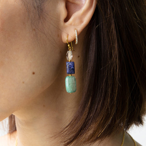 Kyanite and Lapis Earrings