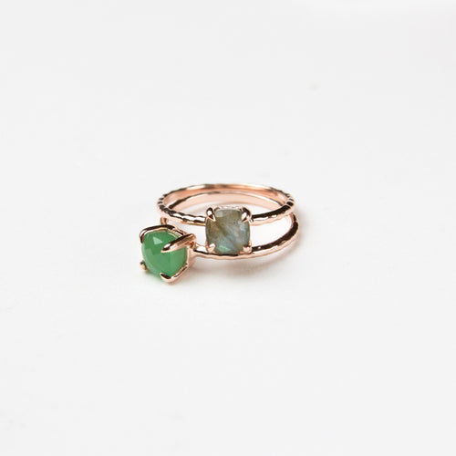 Gemstone Cushion Cut Ring