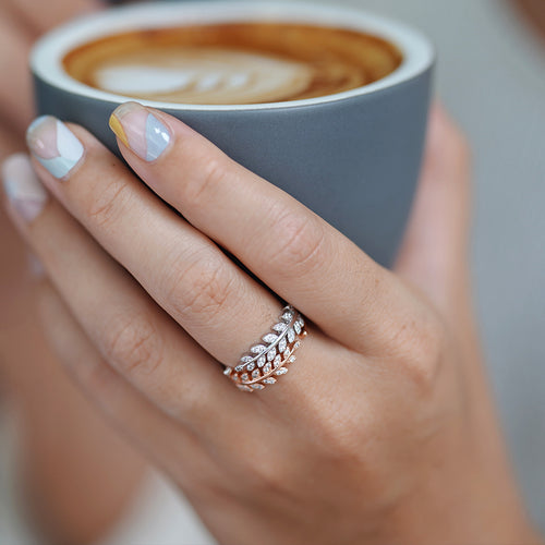 Curled Leaf Adjustable Ring