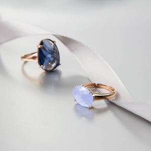 Light Blue Swarovski Crystal Ring