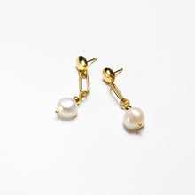 Link Chain Pearl Earrings